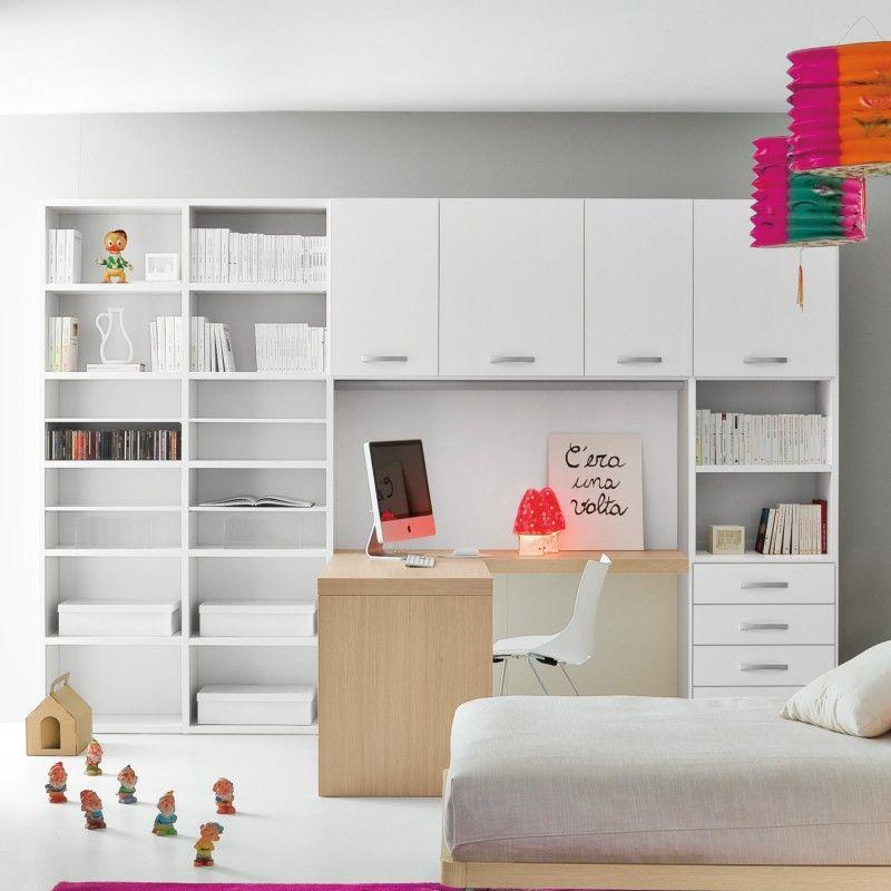 Libreria con scrittoio integrato Start Scrittoio CLEVER