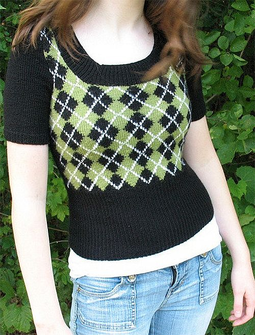 Free Knitting Pattern For Argyle Sweater Le Lapin Noir Is A Short