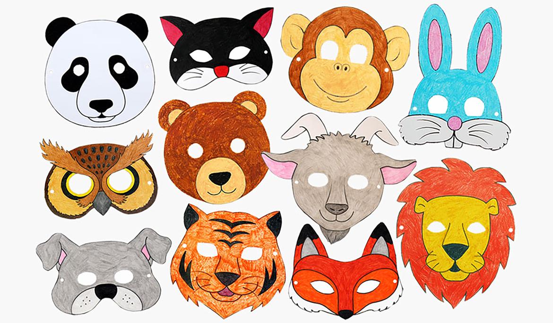 Day 8 Of Magic Animal Dress Up Craft Animal Crafts For Kids Printable Animal Masks Animal Masks Craft
