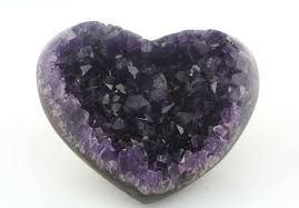 Amethyst Quartz Heart