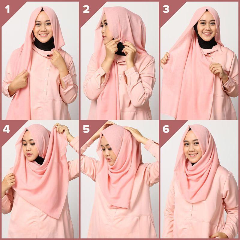 Tutorial Hijab Yang Mudah Dan Simpel Gaya Hijab Hijab Kerudung