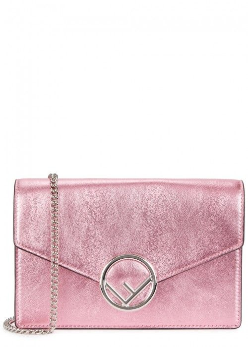 74ebe78651d7d8 FENDI METALLIC PINK LEATHER CROSS-BODY BAG. #fendi #bags #shoulder bags # wallet #leather #accessories #metallic #