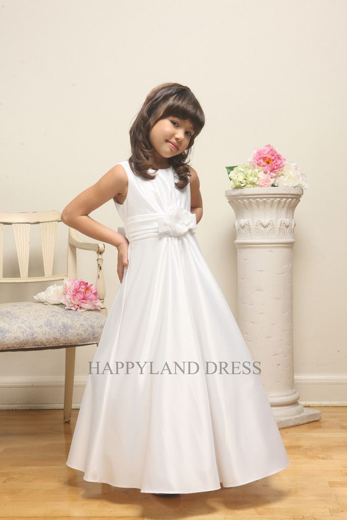 a5aa32dcf D1188 Satin Shirring A-Line Dress (White or Black) – Happy Land ...