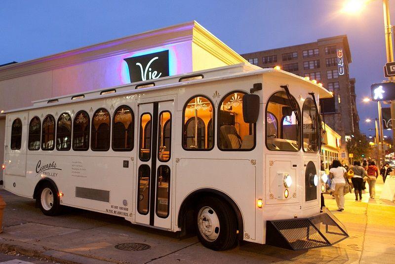 Cescaphe Trolleys Wedding Trolley Rental Wedding Transportation Wedding Wire Hotel Reception