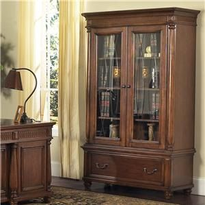 Wesley Cherry Bookcase with Glass Doors by Samuel lawrence