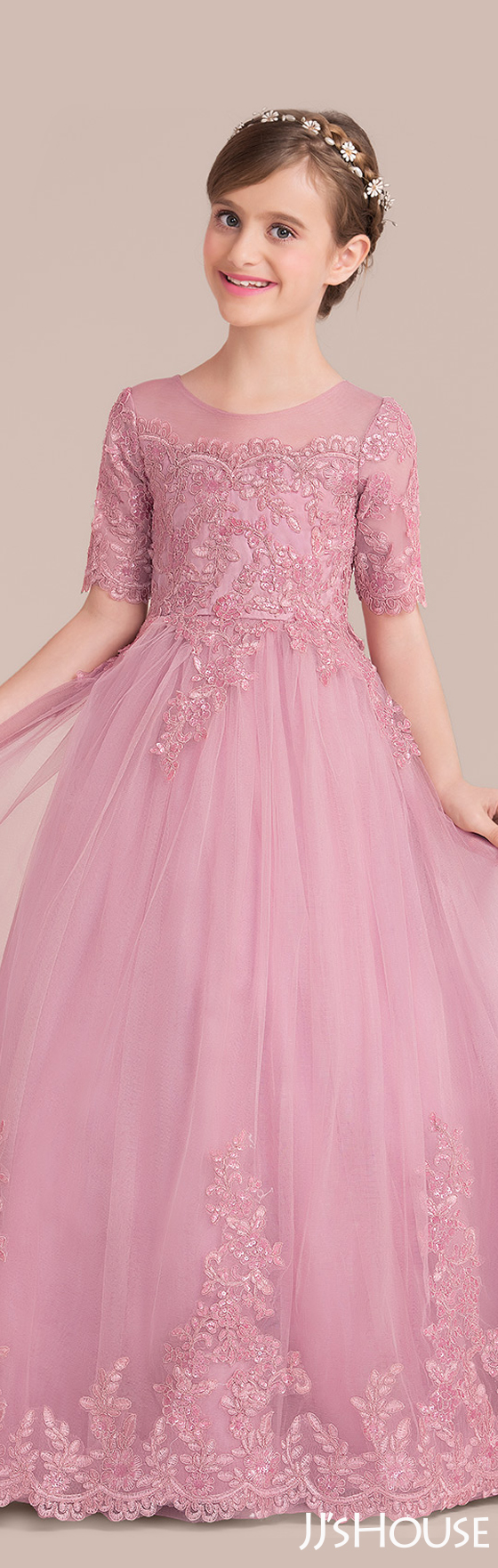 The junior bridesmaid dress has such fantastic color and design ...