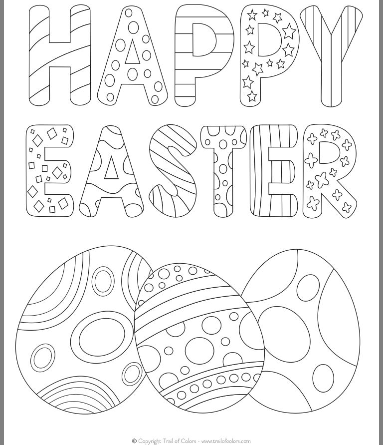 49+ Preschool coloring pages easter info
