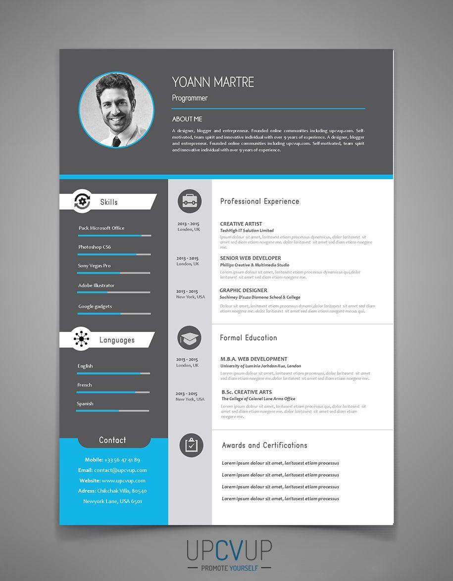 Cv Moderne L Gant Exemple De Cv Upcvup Cv A Telecharger Cv Moderne Elegant Resume Design Creative Graphic Design Cv Resume Design