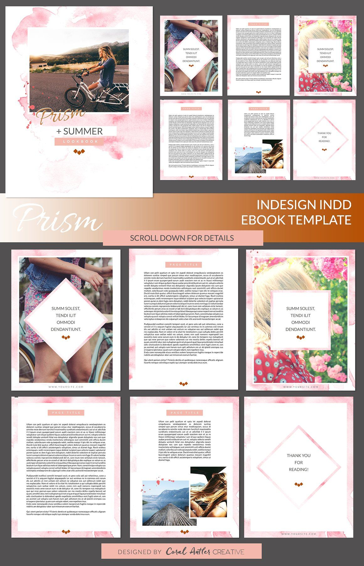 Prism InDesign Ebook Template by Coral Antler Creative on ...