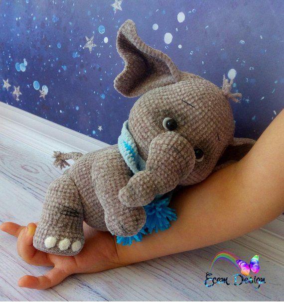 Elefant Monja - Häkelanleitung Amigurumi PDF datei von Elena Akkoca (Ecem Design) #crochetelephantpattern