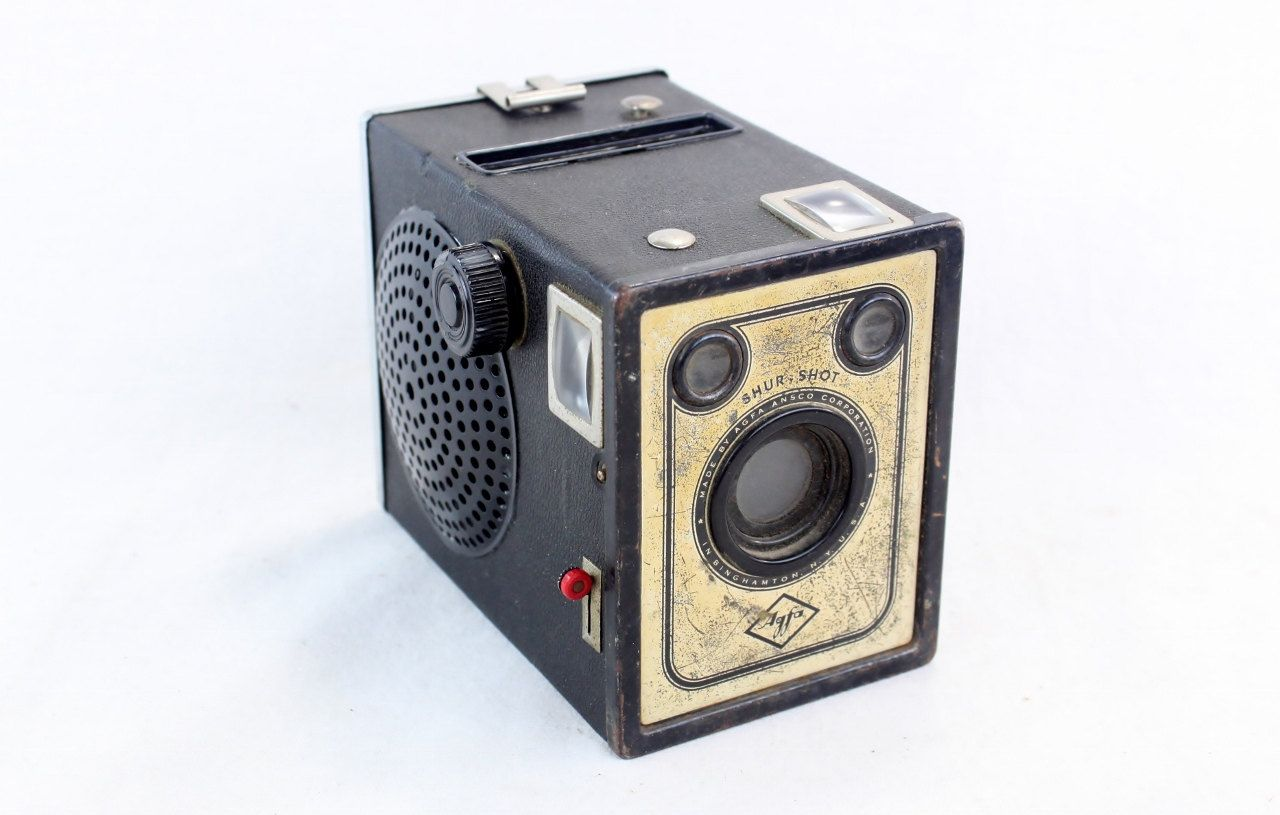 Steampunk Wireless Next Gen Bluetooth Speaker - AGFA B2 Shur Shot Camera - Music Lover Gift
