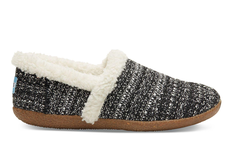 404d7ca97ae Black Black White Boucle Women s Slippers