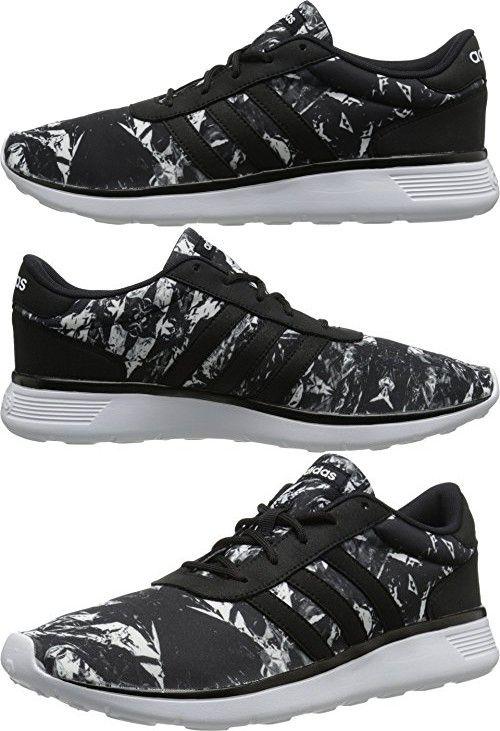 adidas neo women's light racer w una scarpa, nero nero nero / bianco / nero, e794dd