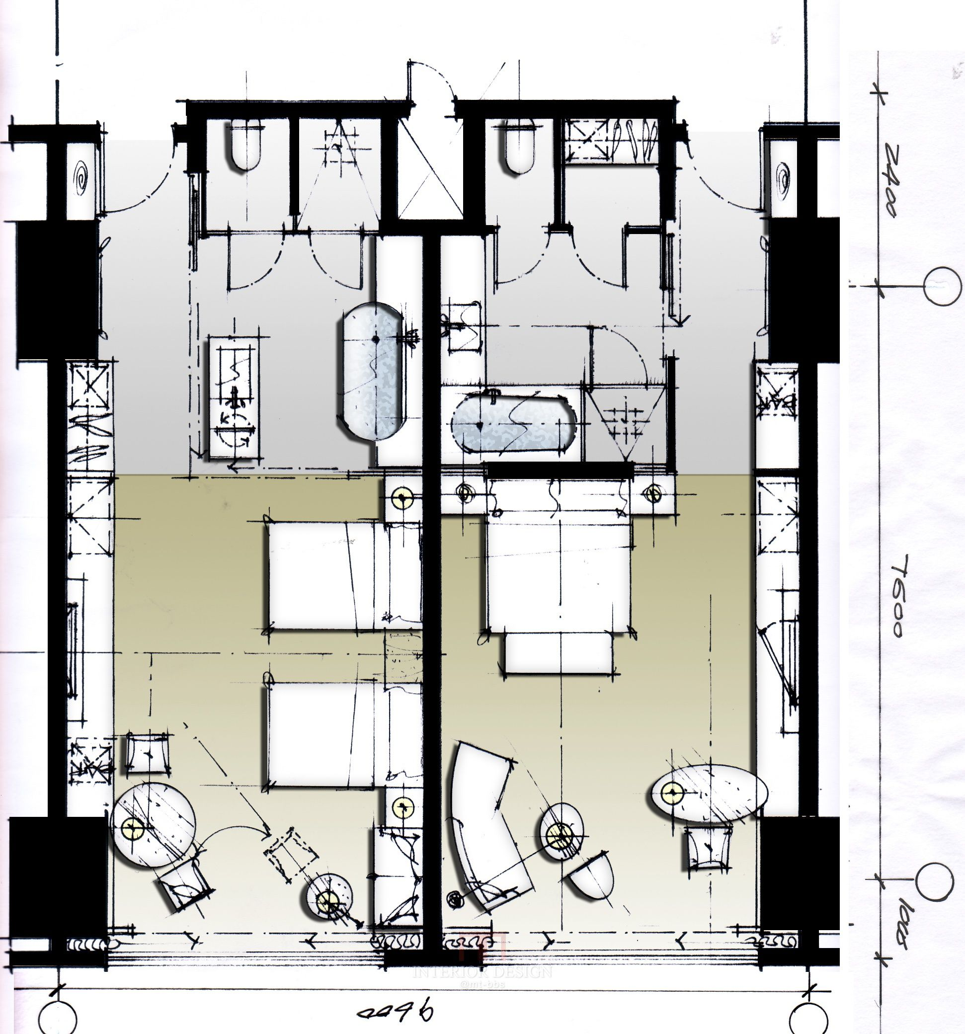 Hotel plan motel pinterest planos hoteles y for Arquitectura de hoteles