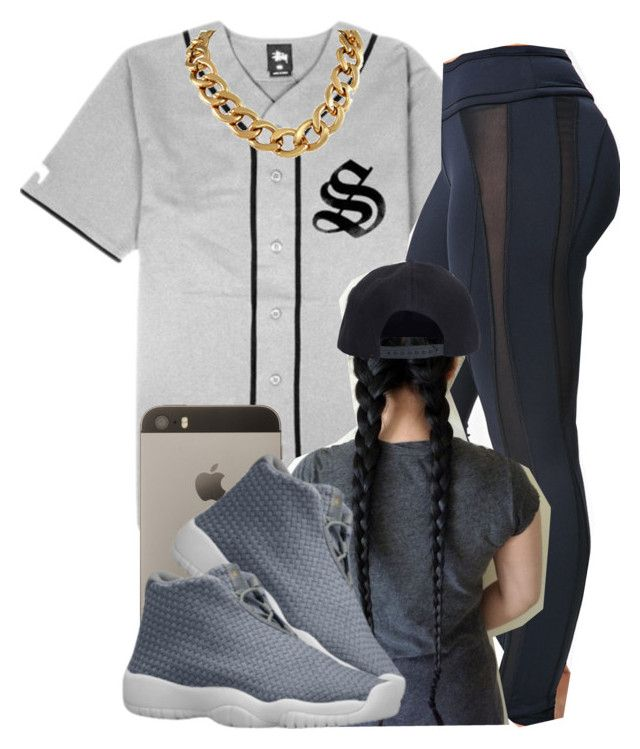"""."" by trillest-queen ❤ liked on Polyvore featuring moda, Stussy, Forever 21 e Boohoo"