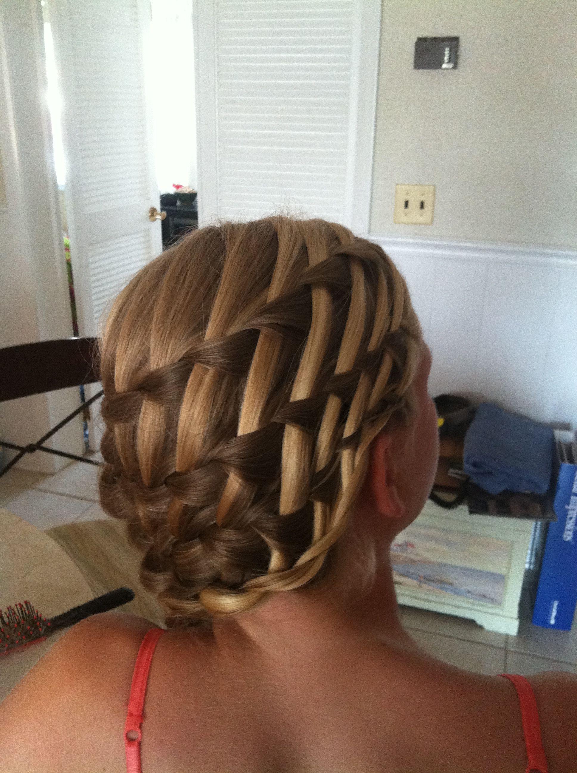 Waterfall basket weave braid Beauty Pinterest