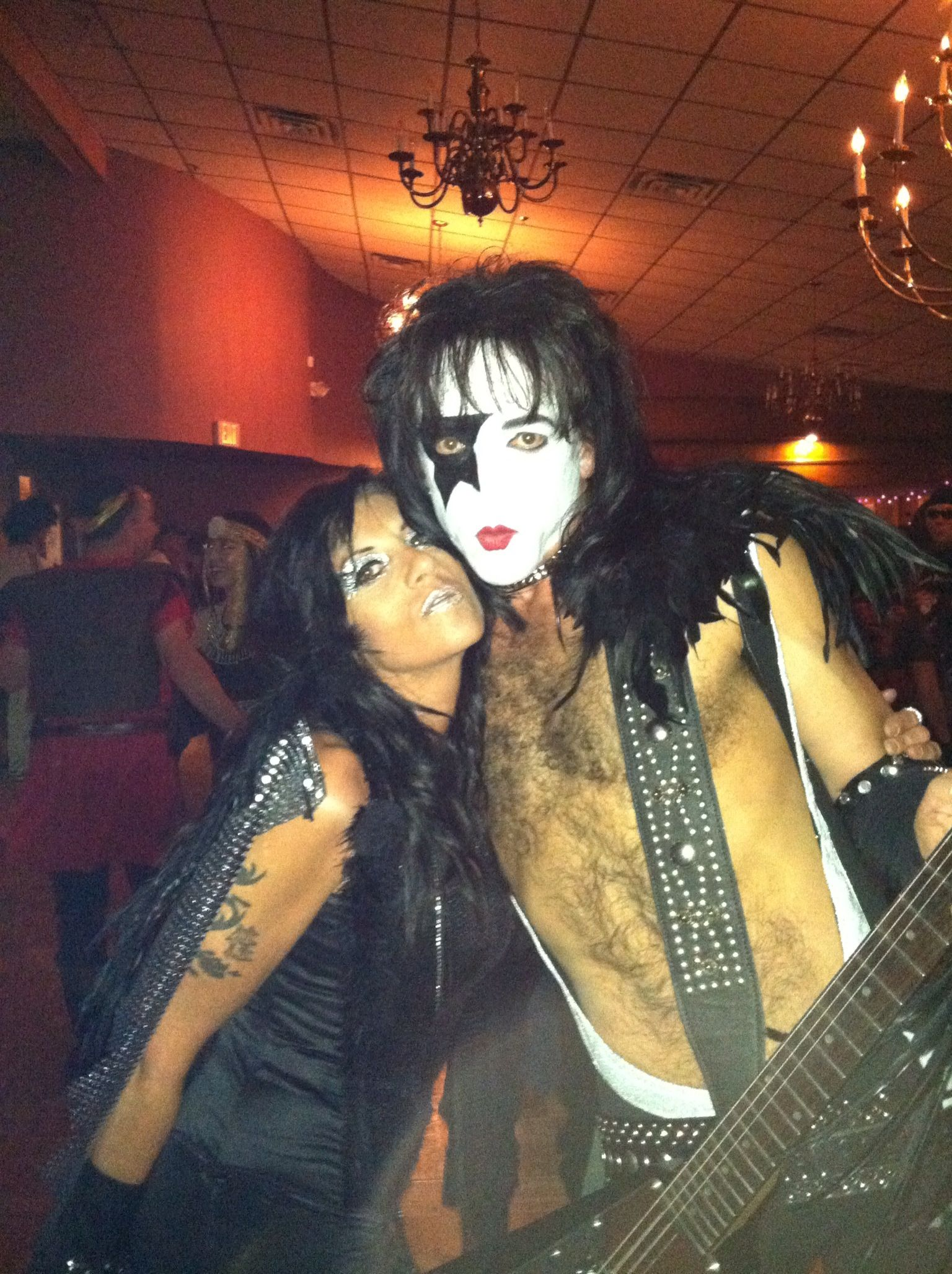 fallen Angel, Paul Stanley Halloween face makeup