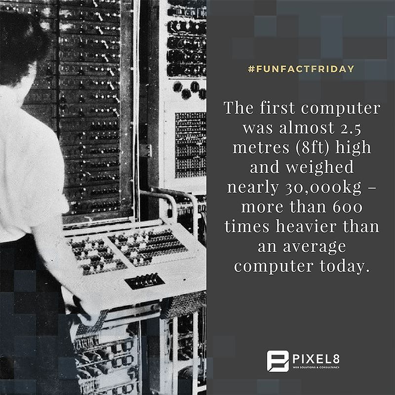 The first computer invented. FunFactFriday Fact Trivia