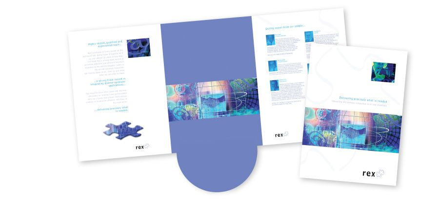 Rex Software Eastleigh Design And Print Folder Leaflets And Business Card This 6 Page Folder Was Designed Print Folders Corporate Brochure Website Design