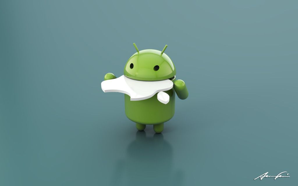 Ilustration Android Eat Apple Android Wallpaper Apple Apple Wallpaper Apple Desktop Android Wallpaper