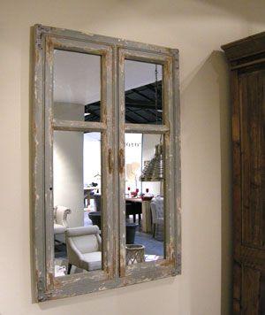 miroir belleville en bois athezza il prend la forme d 39 une fen tre ferm on aime. Black Bedroom Furniture Sets. Home Design Ideas