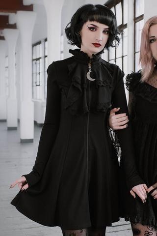 Claire Voyant Collar Dress In 2020 Goth Dress Witch Fashion Fashion