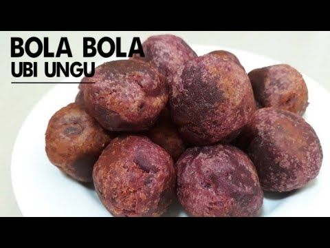 Cara Membuat Bola Bola Ubi Ungu Sweet Potato Balls Recipe Resep Bola Bola Ubi Youtube Food Snacks Indonesian Food