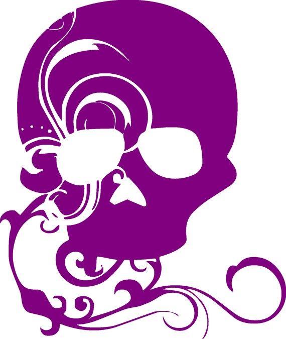 Skull sassystickers com custom vinyl cut sassy sticker decals