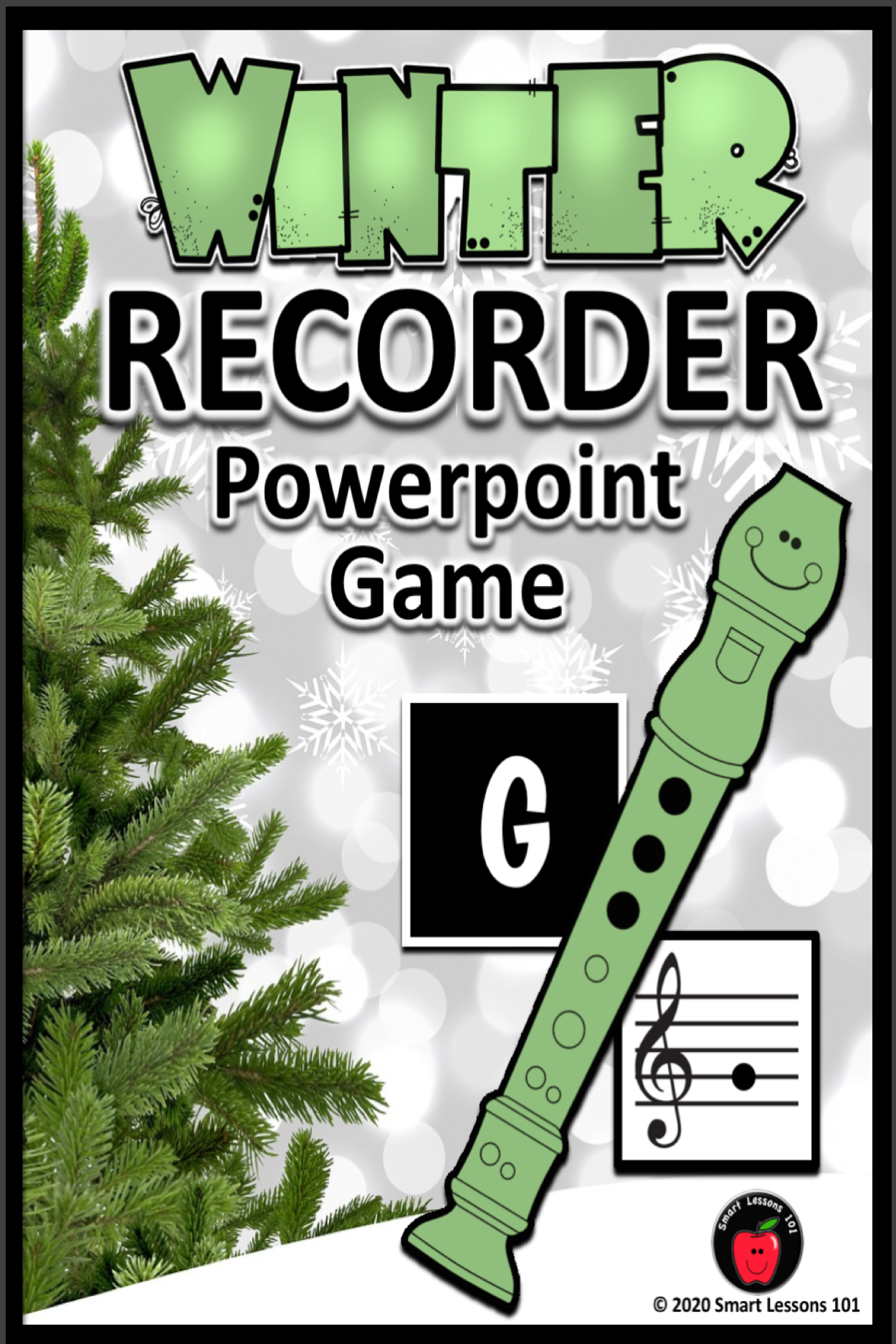 Winter Recorder Game Note Names Recorder Fingerings