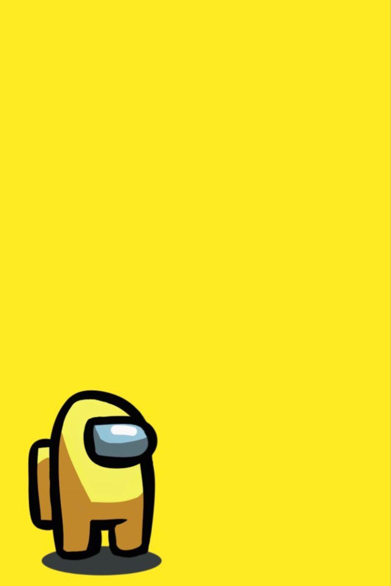 Among Us Yellow Wallpaper Iphone Wallpaper Vintage Pretty Wallpaper Iphone