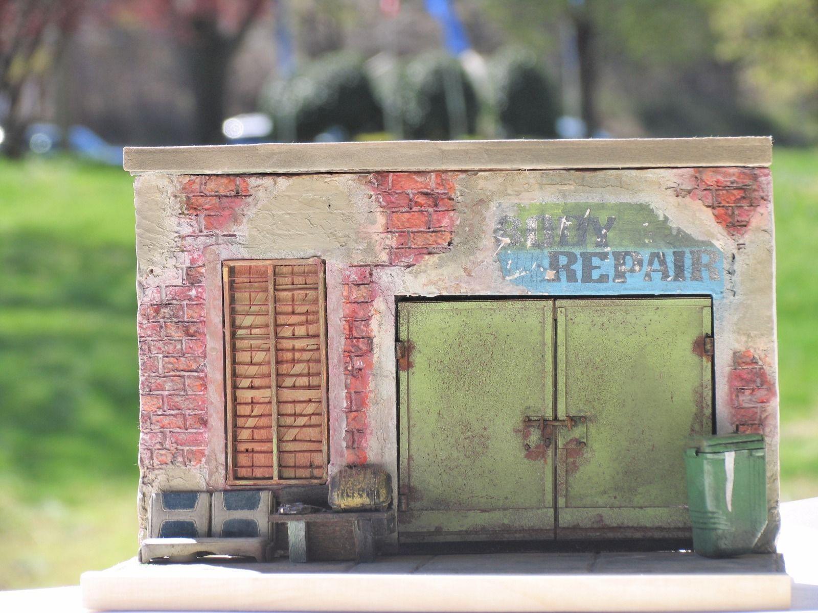 1 24 1 25 Barn Garage Diorama For Sale On Ebay: 1/25 1/24 Garage Yard For Chevy Ford Dodge Truck Pickup