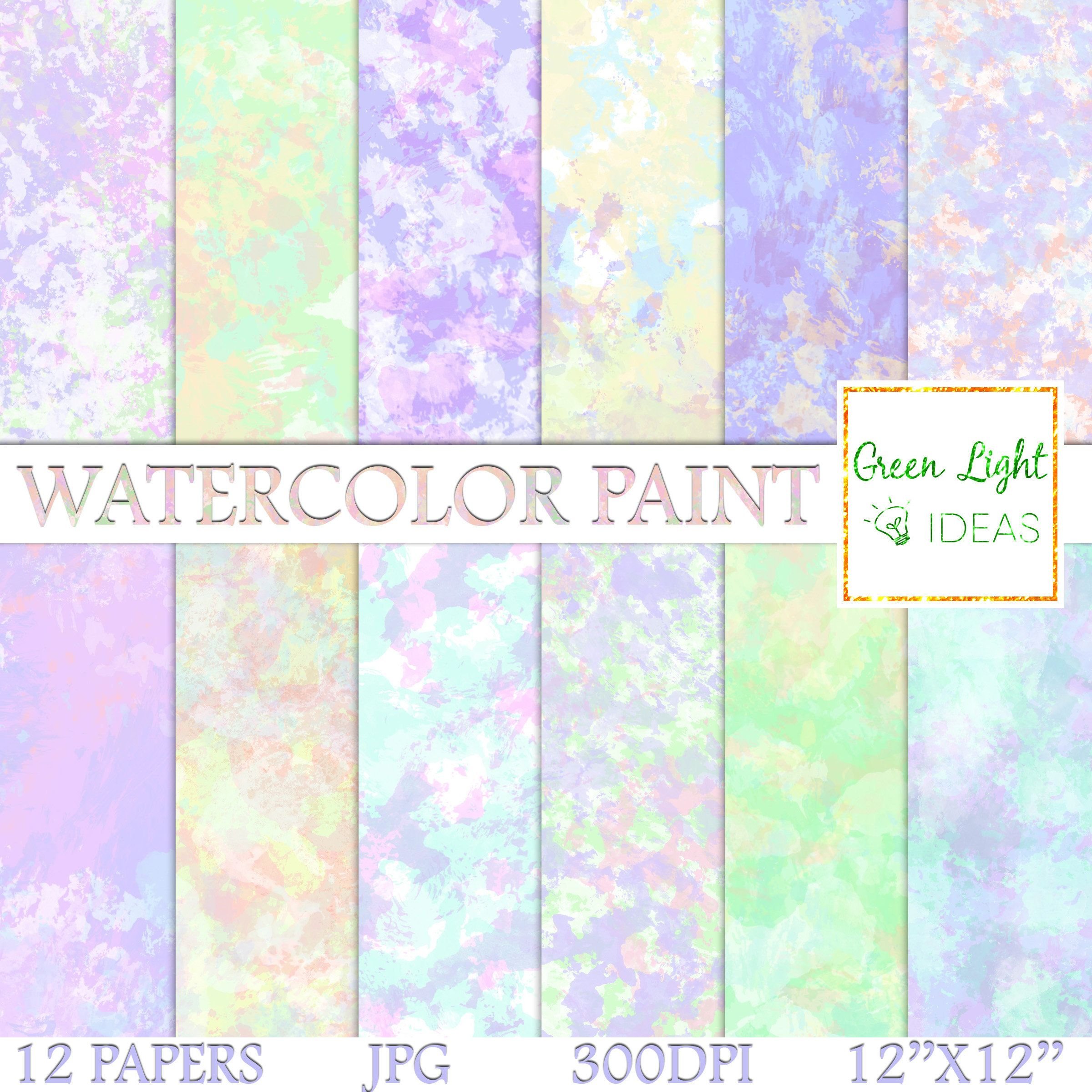 Pink Sherbet 12 x 12 free commercial use Artistic Watercolour Background Digital Paper