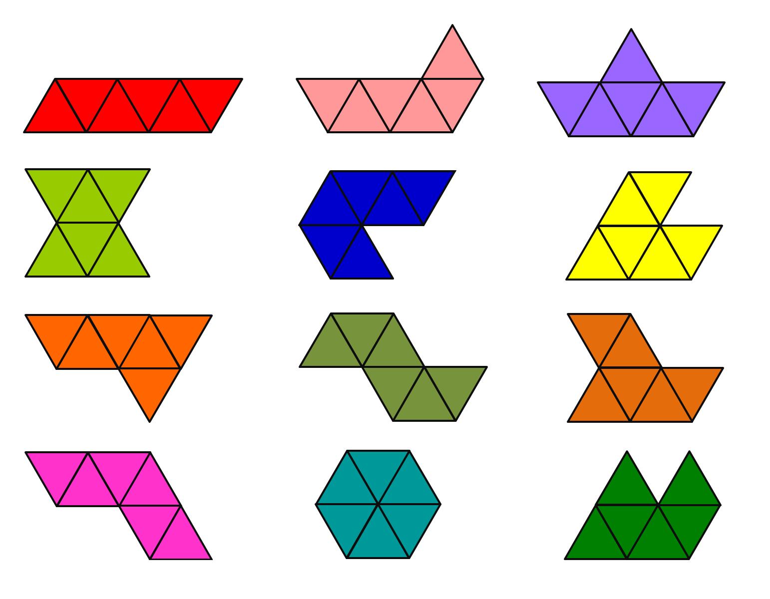Encuentralos Seis Triangulos Equilateros Pueden Formar