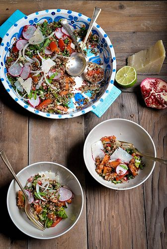 Wholesome Quinoa Salad with Fall Market Vegetables by ashafsk, via Flickr
