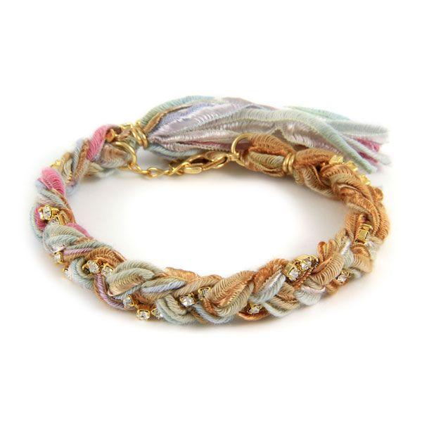 Crystal bracelet and gold vintage chic