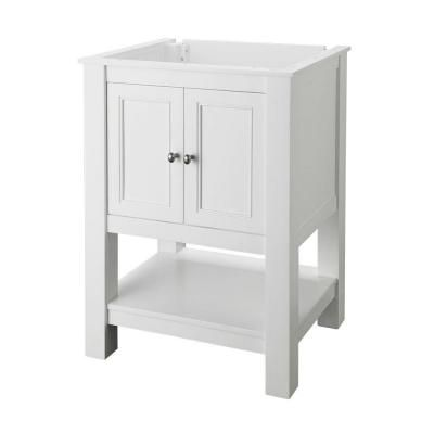 foremost gazette 24 in w x 18 in d vanity cabinet only in white
