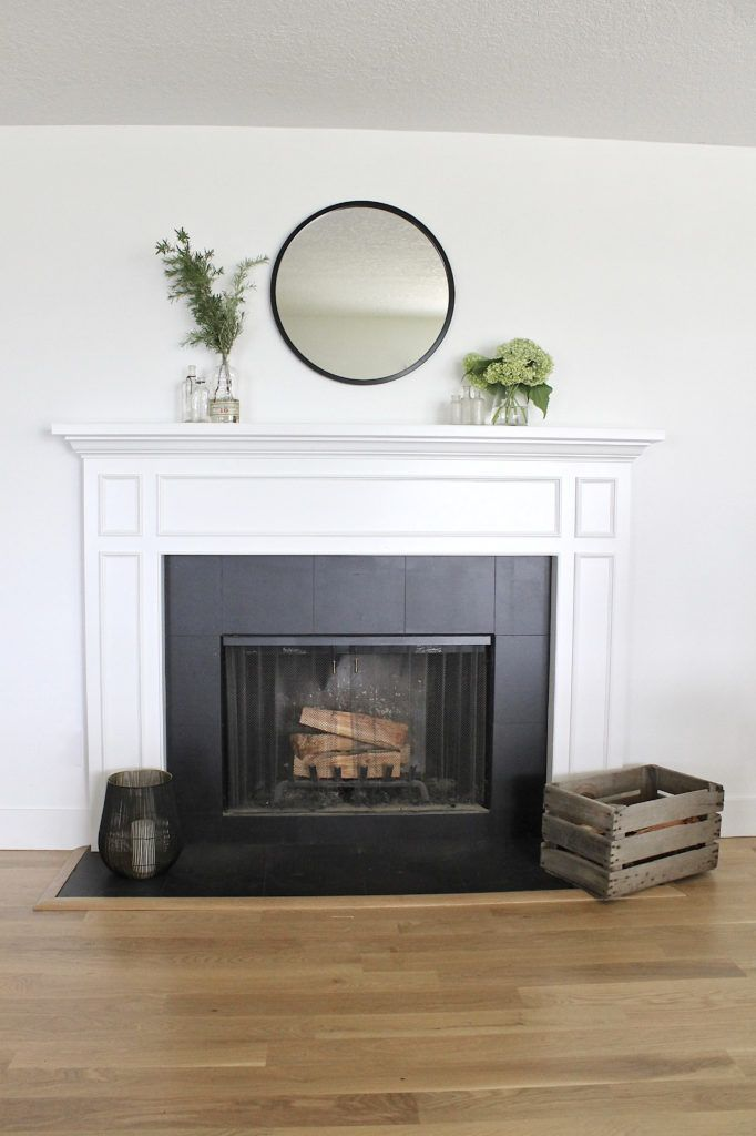 How to Paint a Ceramic Tile Fireplace for an Easy Update - allisa jacobs -  how to paint a ceramic tile fireplace, an easy DIY home project for a dramatic makeover and last re - #allisa #Ceramic #easy #fireplace #homedesign #homediy #homeideas #homeplans #Jacobs #Paint #Tile #update