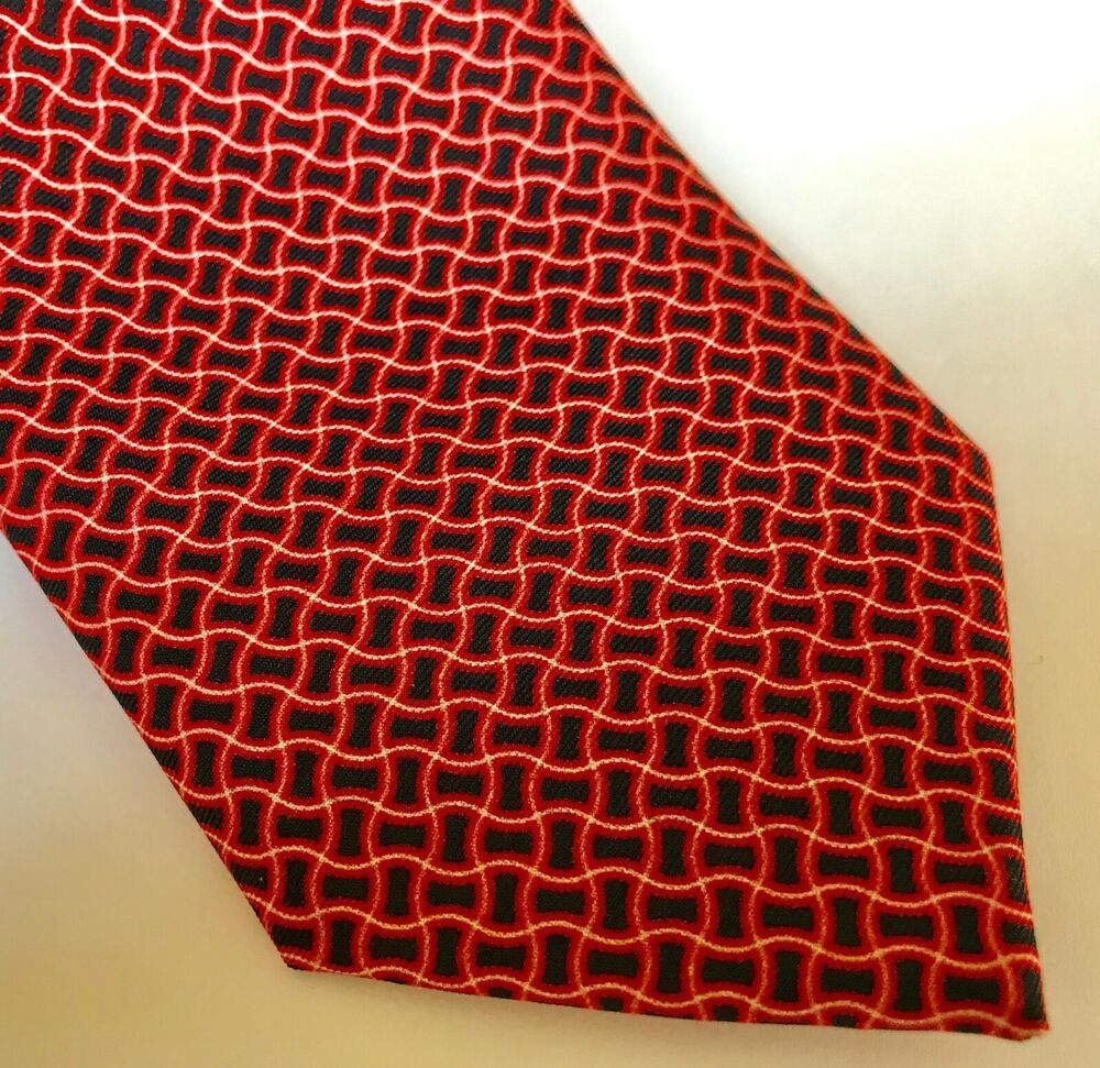 Austin Reed Silk Necktie Neck Tie Red Black English British 100 Silk Nwt Austinreed Tie Black And Red Austin Reed Silk Necktie