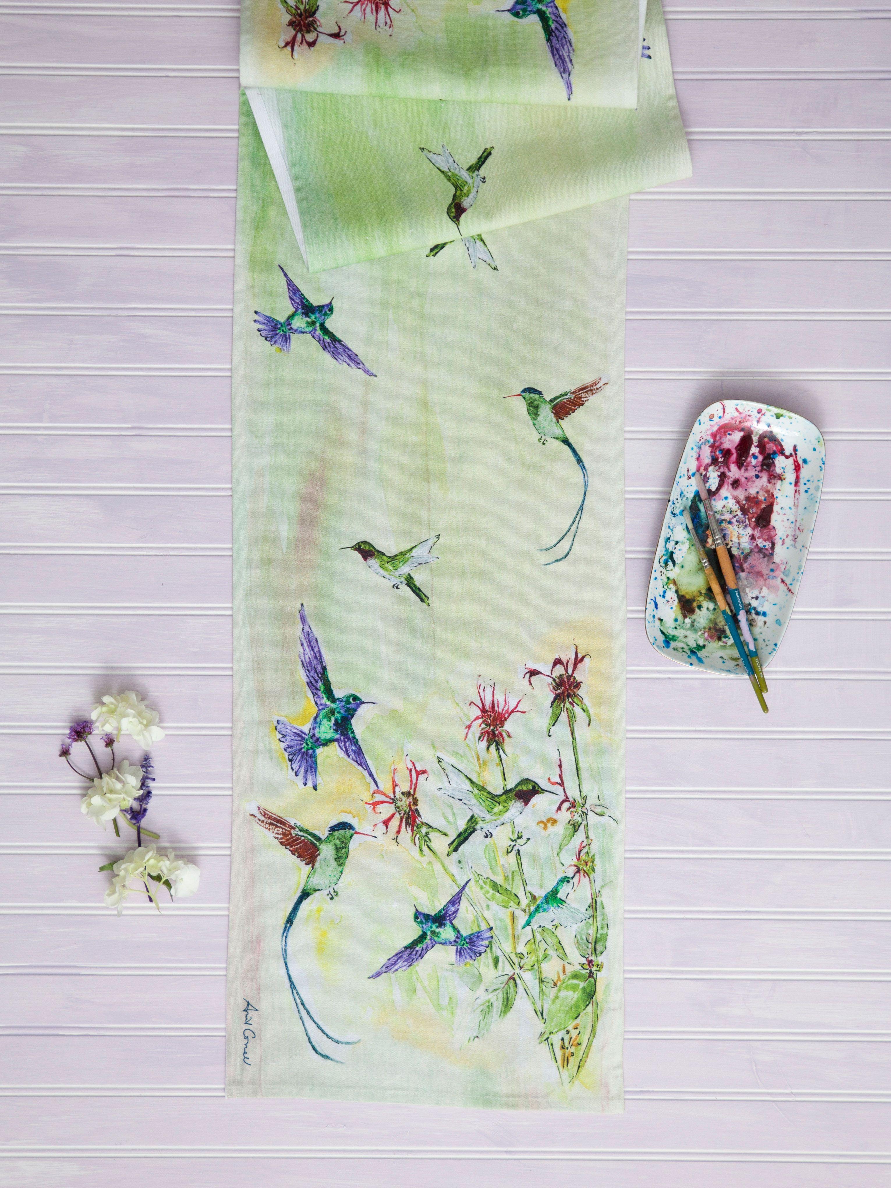 April Cornell Table Runner Hummingbird Kitchen Linen Www Vintiqueflair