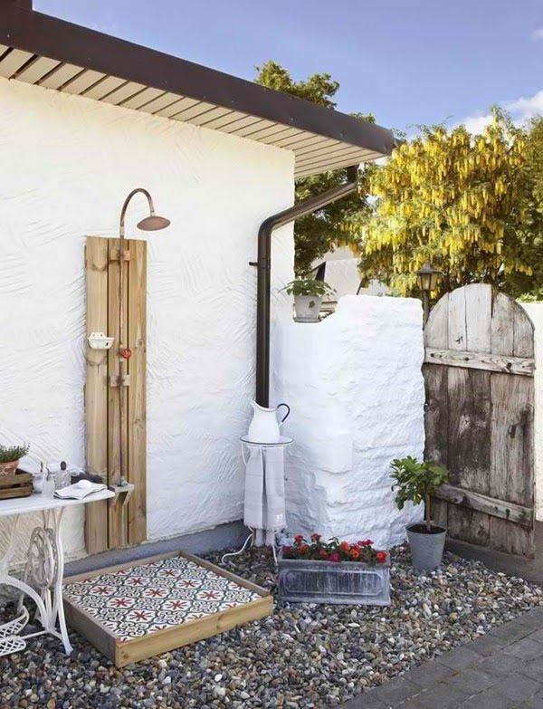 outdoor shower | Outdoor decor | Pinterest | Duchas, Baños y Ducha ...