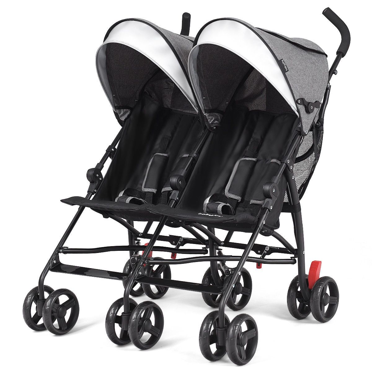 Foldable Twin Baby Double Stroller Ultralight Umbrella