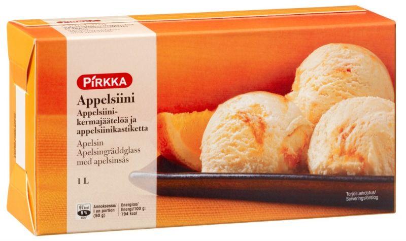 Pirkka appelsiinikermajäätelö - nammmm!