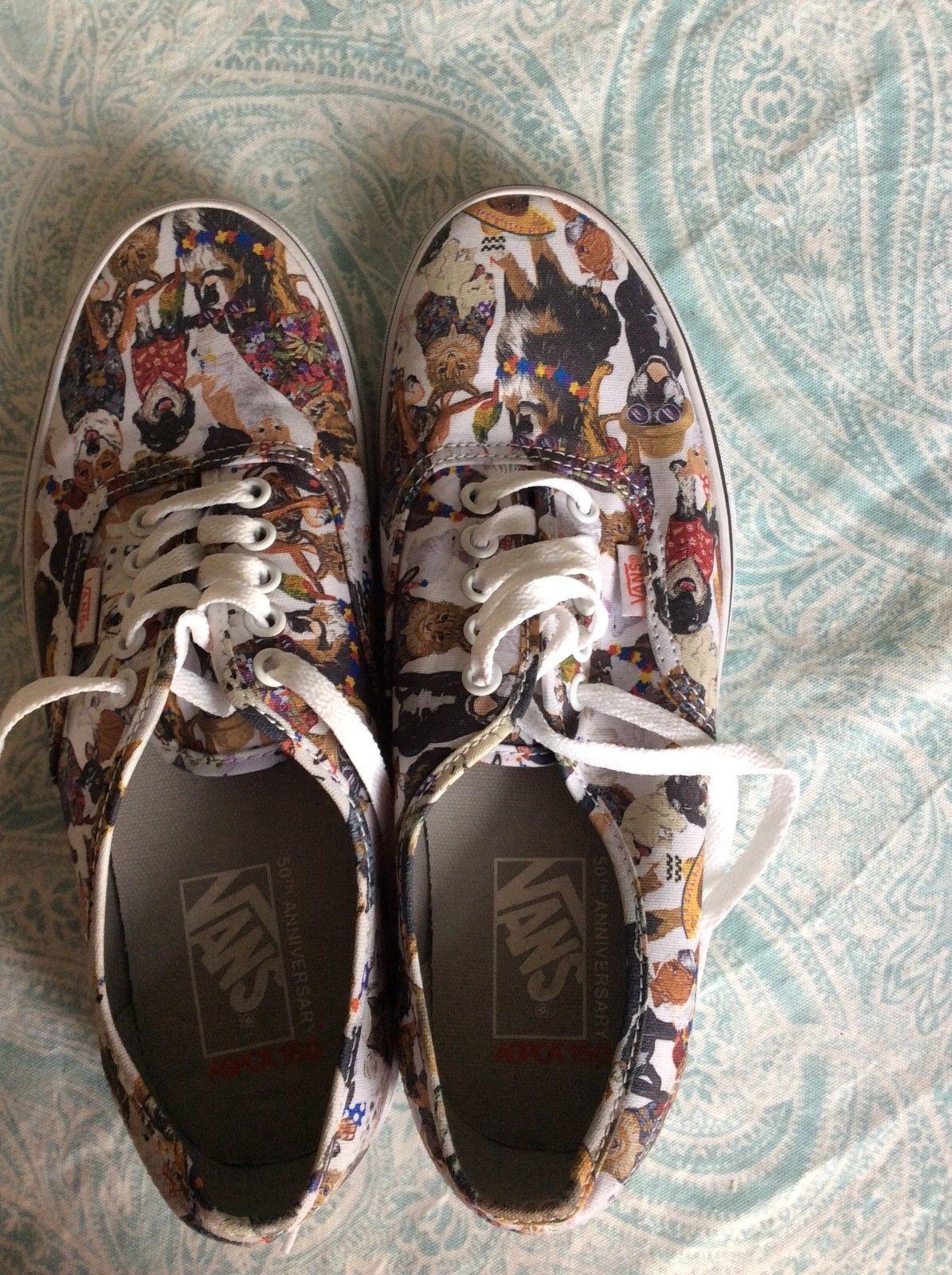 4e5dda02ecaede Vans Authentic ASPCA Party Animals Skate Shoe Multi CATS DOGS Print ...