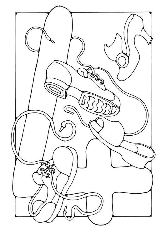 Kleurplaat Cijfer 4 Rekenbegrippen Coloring Pages Numbers En