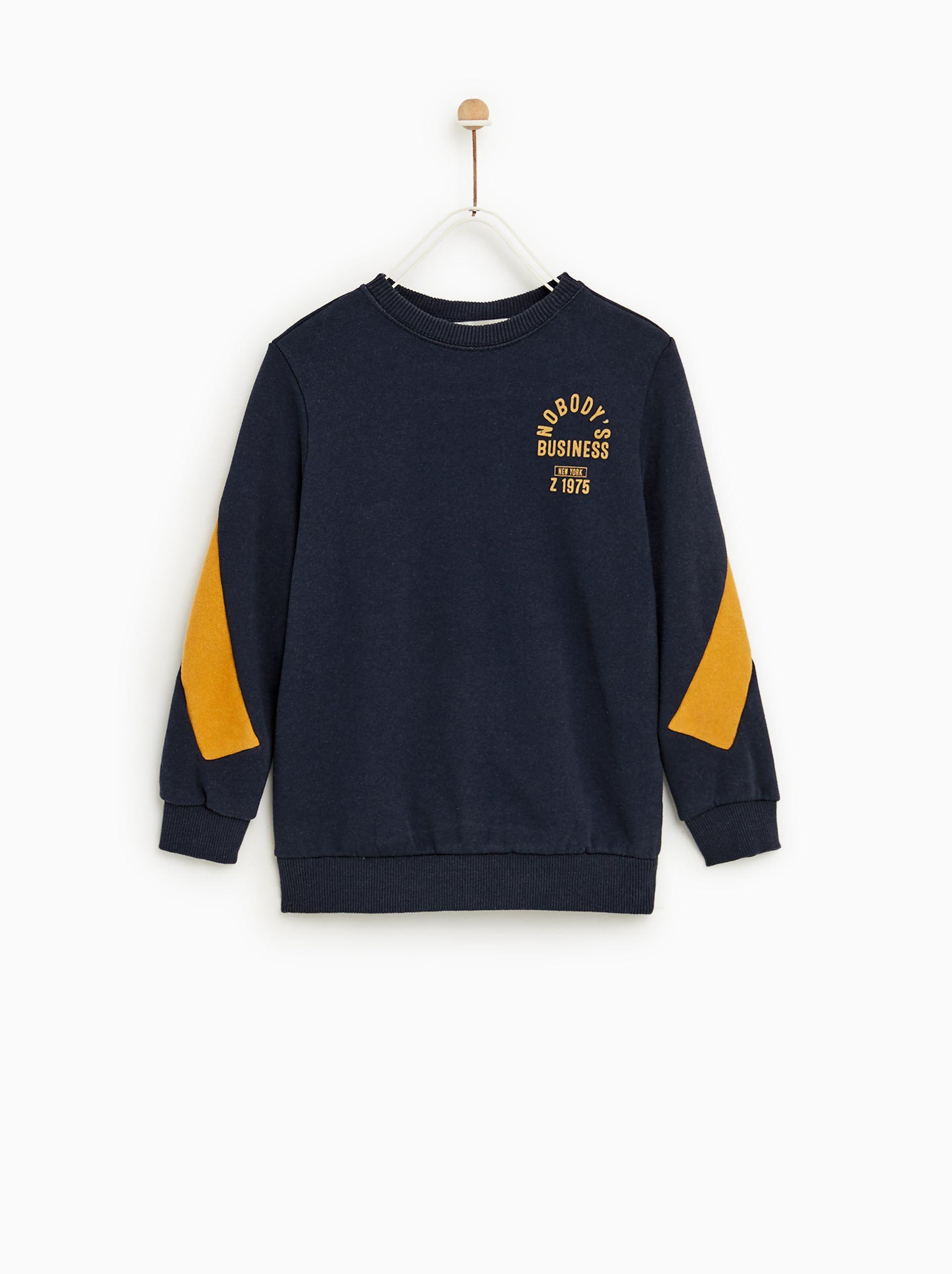 8d264767 SWEATSHIRT WITH STRIPES | D2-KB in 2019 | Printed sweatshirts, Zara ...