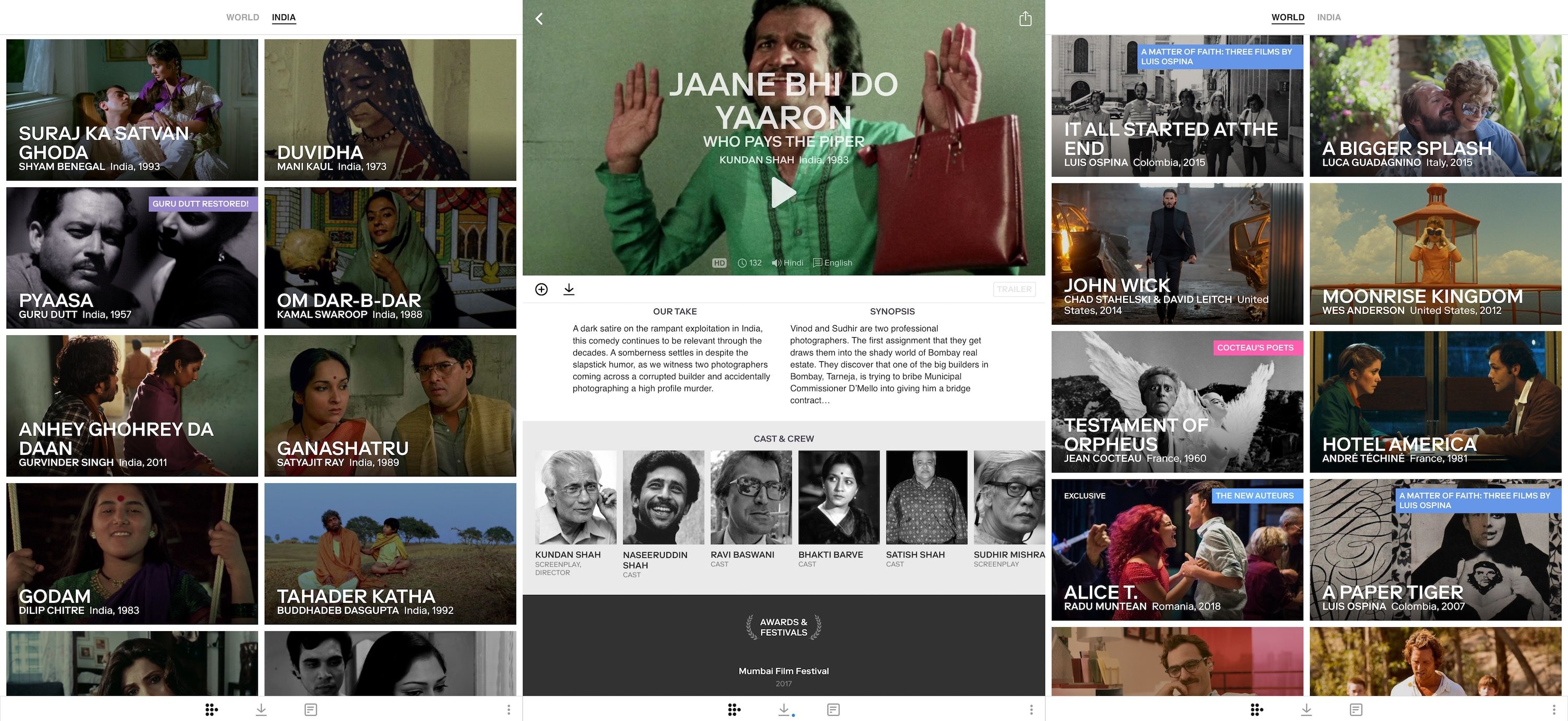 Mubi launches streaming service in India Streaming