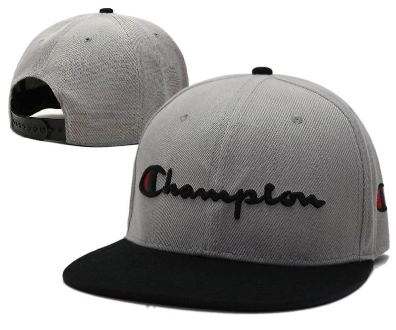cd95d292fcd9f Mens Champion Reverse Weave Script Champion Logo Embroidery Baseball  Snapback Hat - Grey   Black