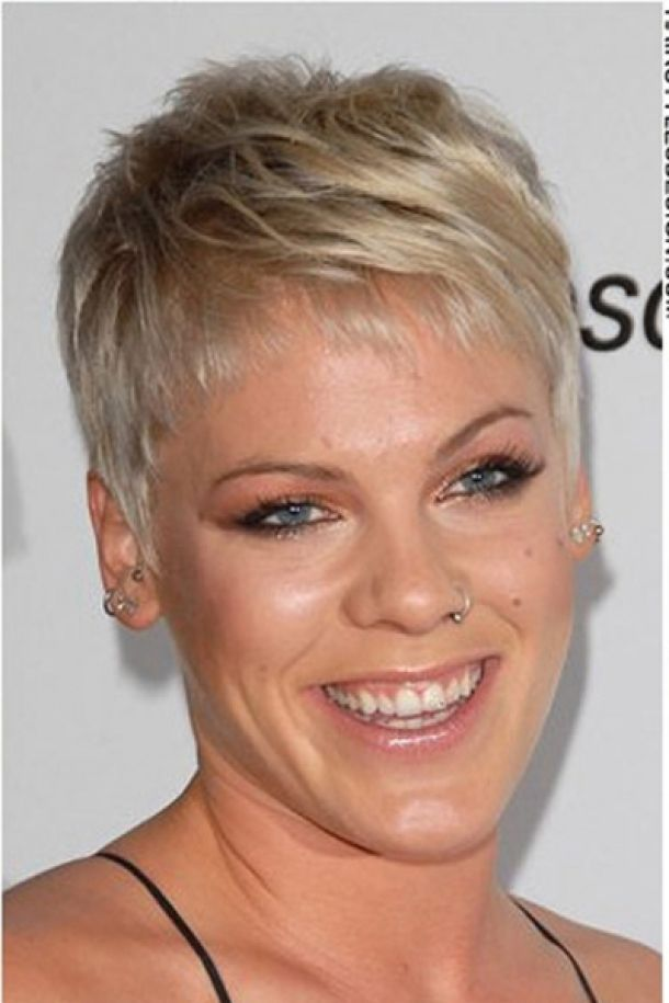 Pink Extra Short Tapered Haircut Hairstyles Pictures Celebrity