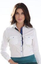camisas com detalhe fita no paty, Moda Evangélica