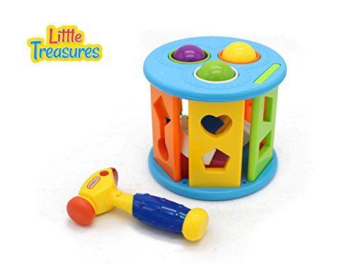 Hammer pounding Plastic Toy Shape Match Sorting Cube Building Blocks